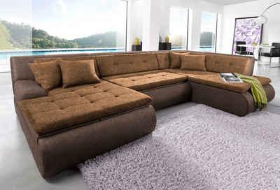 Wohnlandschaft braun  Wohnlandschaft online kaufen » Sofa in U-Form | OTTO