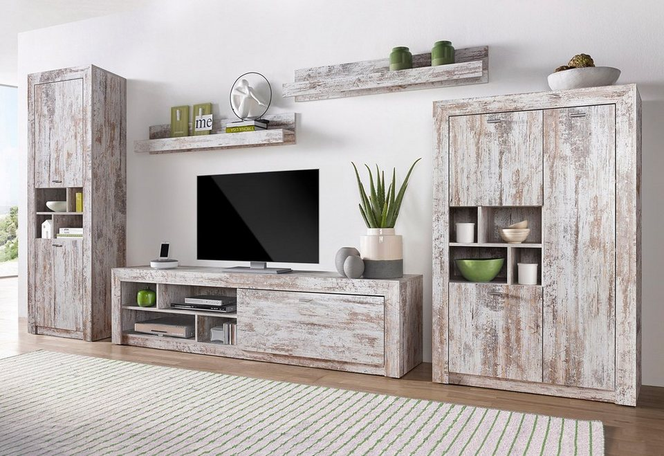 wohnzimmerm bel weiss holz. Black Bedroom Furniture Sets. Home Design Ideas