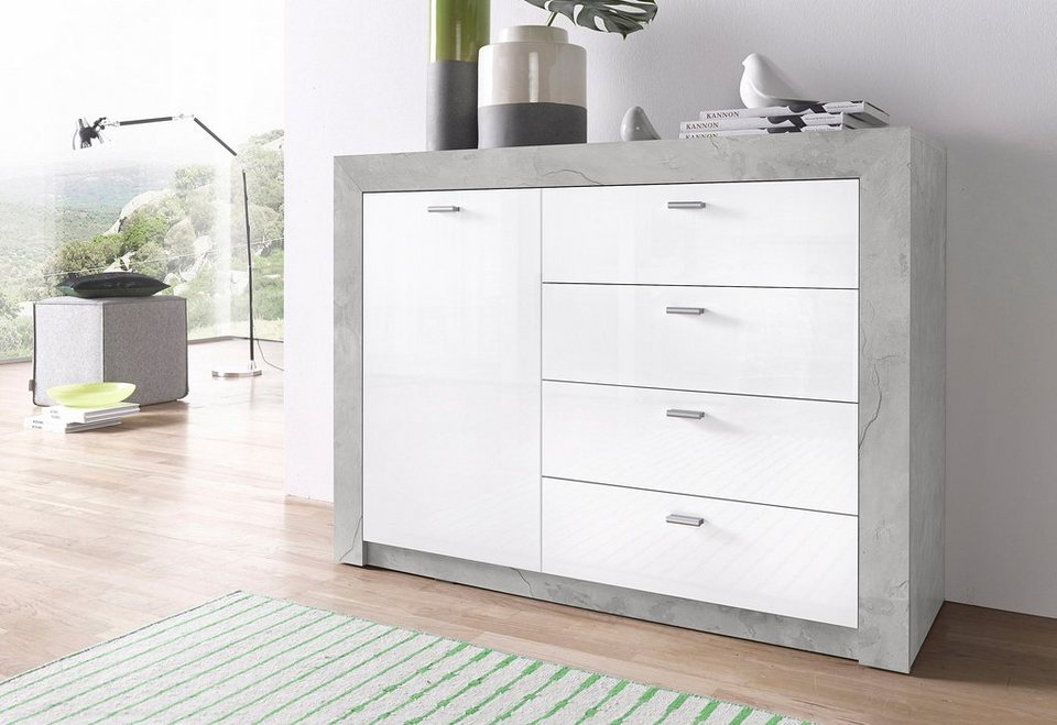 sideboard breite 120 cm hochglanz fronten online kaufen otto. Black Bedroom Furniture Sets. Home Design Ideas