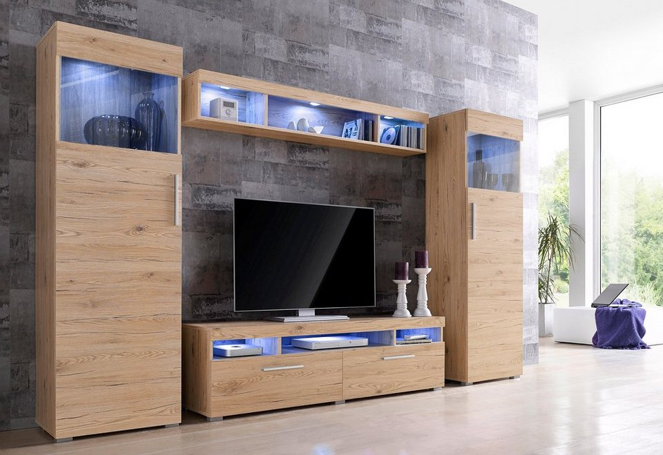 hochglanz wohnwand online kaufen otto. Black Bedroom Furniture Sets. Home Design Ideas