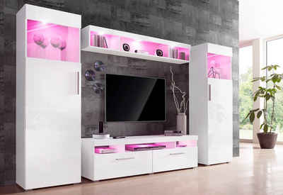 Wohnwand 4 Tlg   Pinke Wohnwand Design Ideas