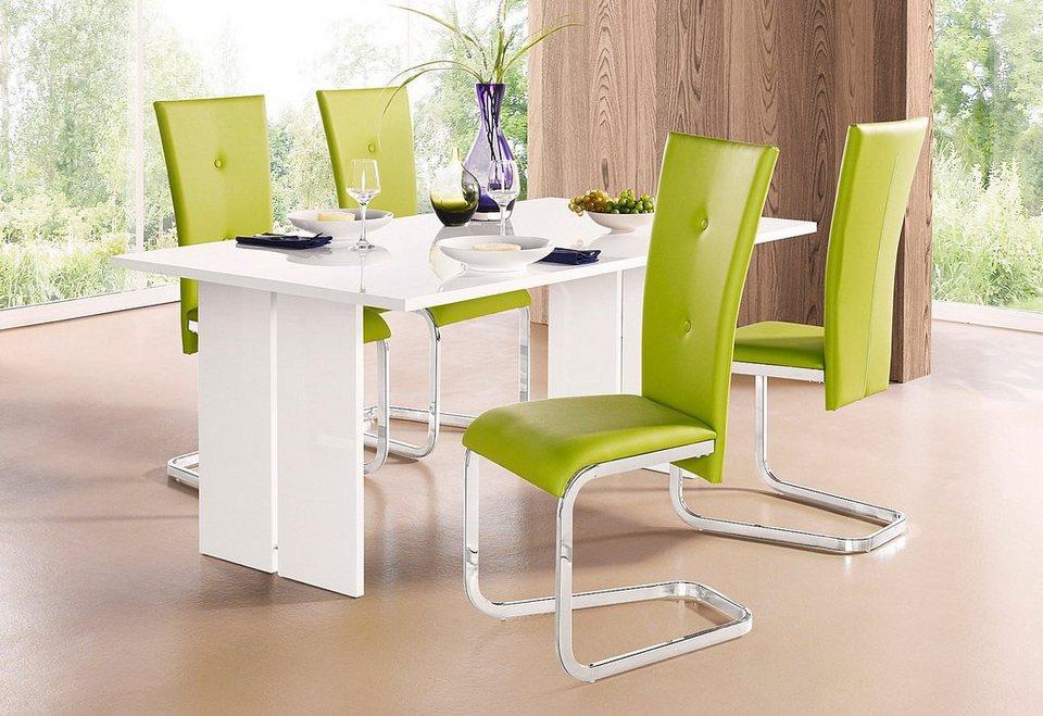 Tecnos Tisch in weiß Hochglanz