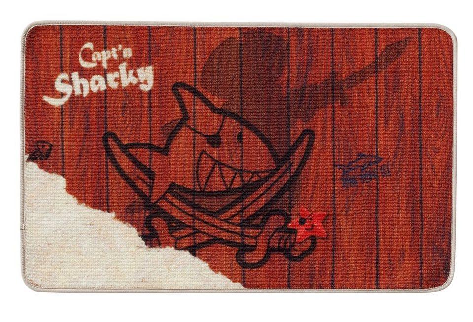 Fußmatte, Capt'n Sharky, »H-304«, rutschhemmend beschichtet in braun