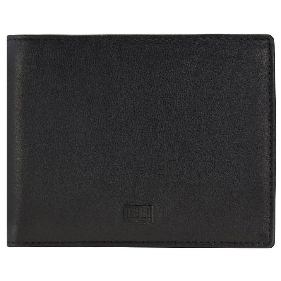 mano Tabula Geldbörse Leder 13 cm in schwarz