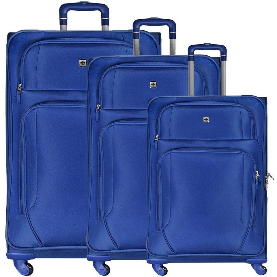 Wenger Luggage Reisegepäck Lugano 4-Rollen Trolley-Set 3-tlg. in blau