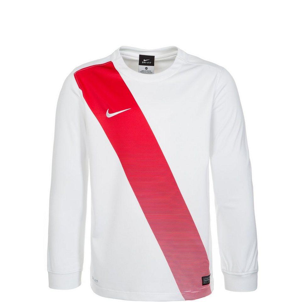 NIKE Sash Fußballtrikot Kinder in weiß / rot