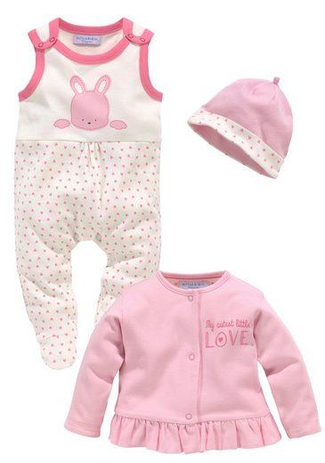 Klitzeklein Strampler, Jäckchen & Mütze »Cute Babygirl« (3-tlg) GOTS zertifiziert