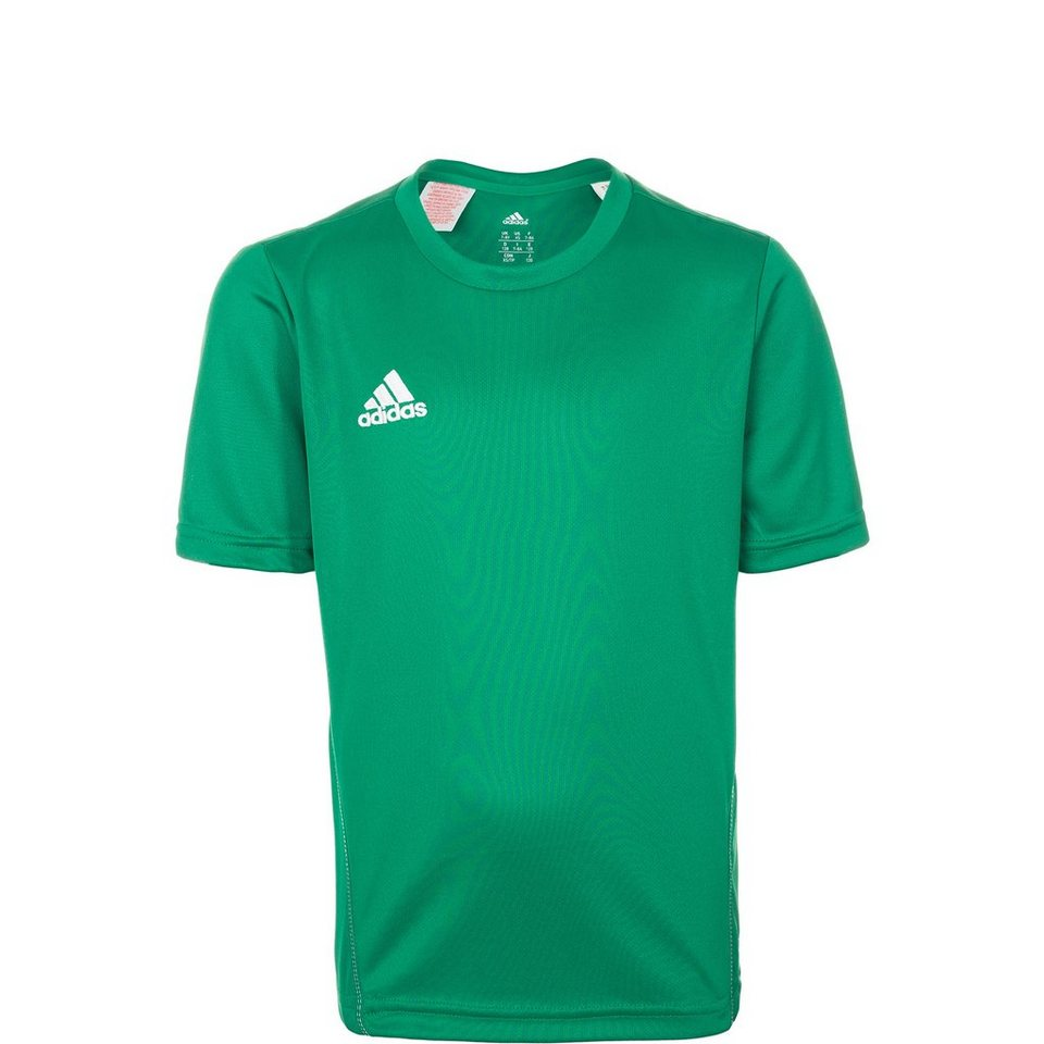 adidas Performance Core 15 Trainingsshirt Kinder in grün / weiß