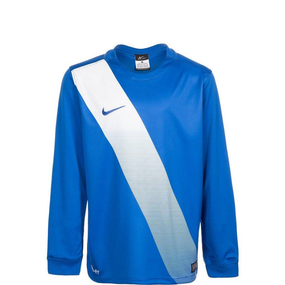 NIKE Sash Fußballtrikot Kinder in blau / weiß