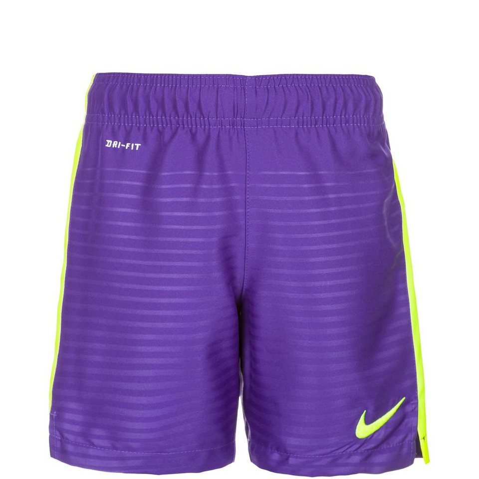 NIKE Max Graphic Short Kinder in lila / lime