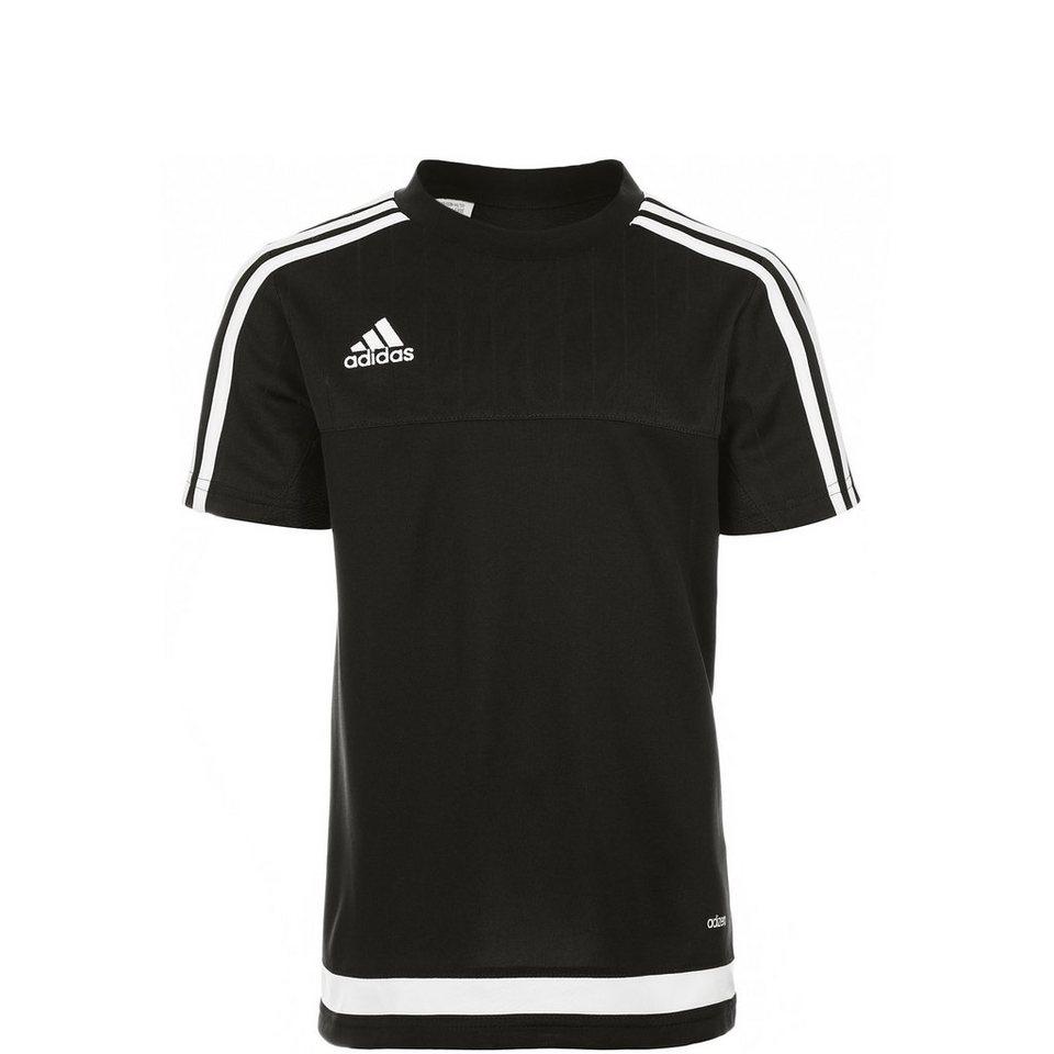 adidas Performance Tiro 15 Trainingsshirt Kinder in schwarz / weiß