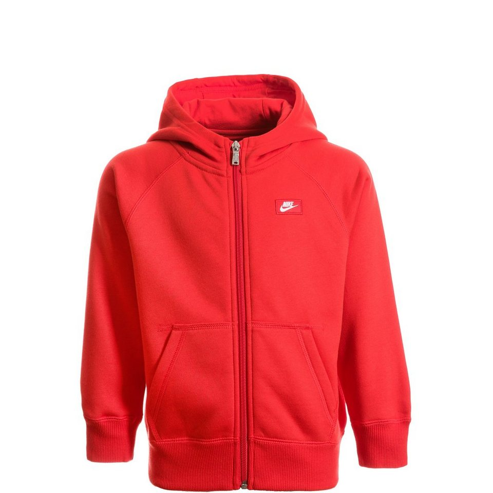 NIKE YA76 Futura Full Zip Trainingskapuzenjacke Kinder in rot