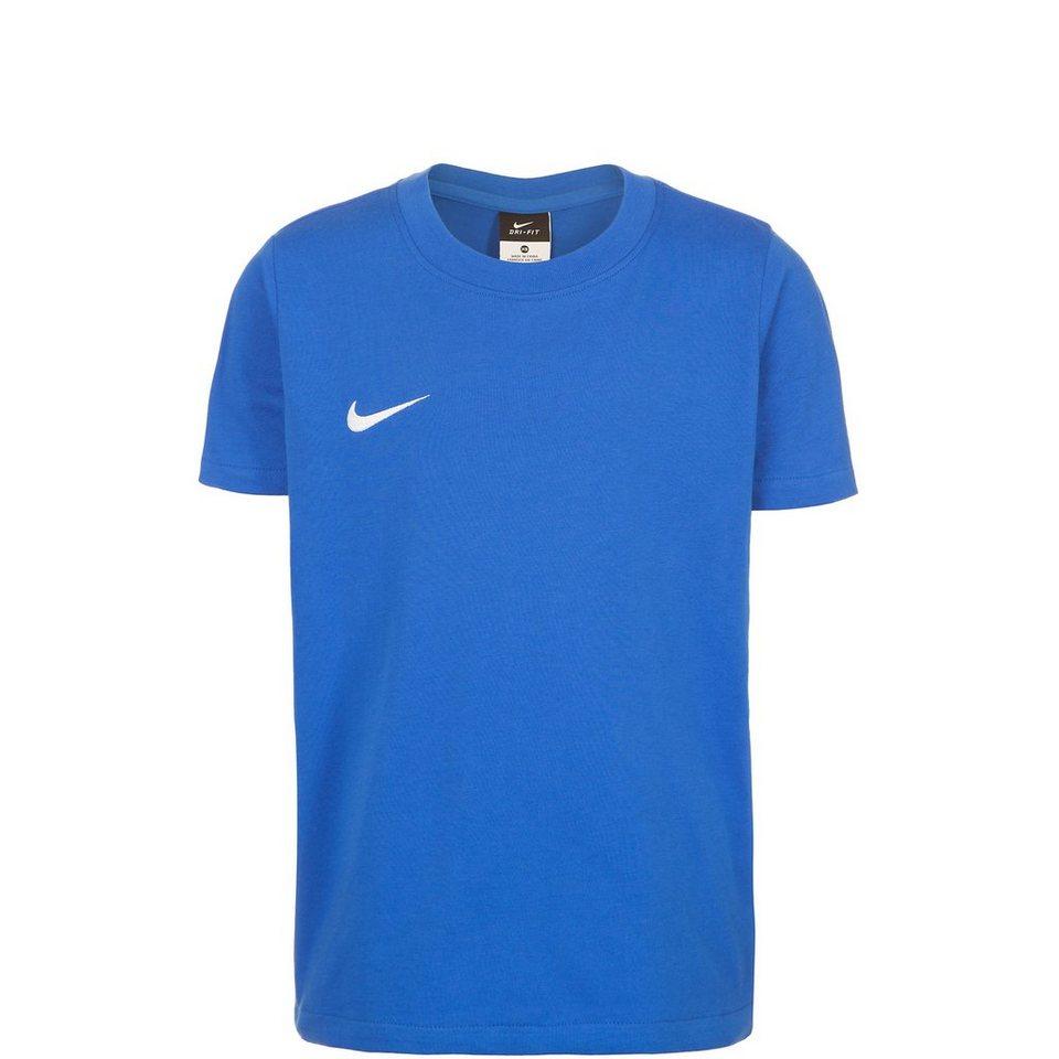 NIKE Team Club Blend Trainingsshirt Kinder in blau / weiß