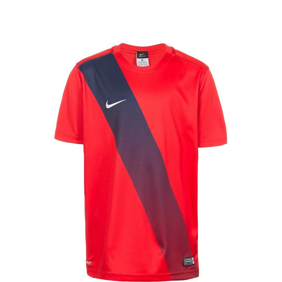 NIKE Sash Fußballtrikot Kinder in rot / weiß