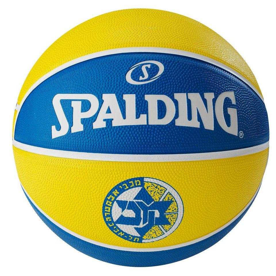 SPALDING EL Team Maccabi Tel Aviv Basketball in blau / gelb