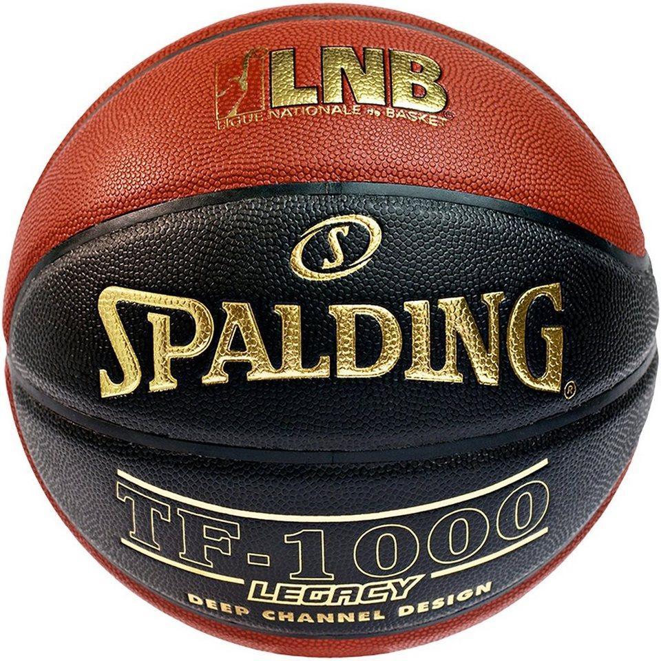 SPALDING LNB TF1000 Legacy FIBA Basketball in braun / schwarz
