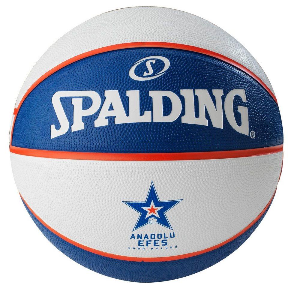 SPALDING EL Team Anadolu Efes Istanbul Basketball in blau / weiß / rot