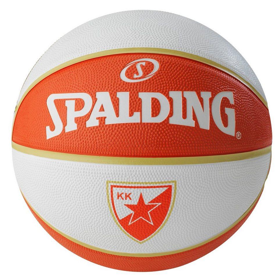 SPALDING EL Team Belgrad Basketball in weiß / orange