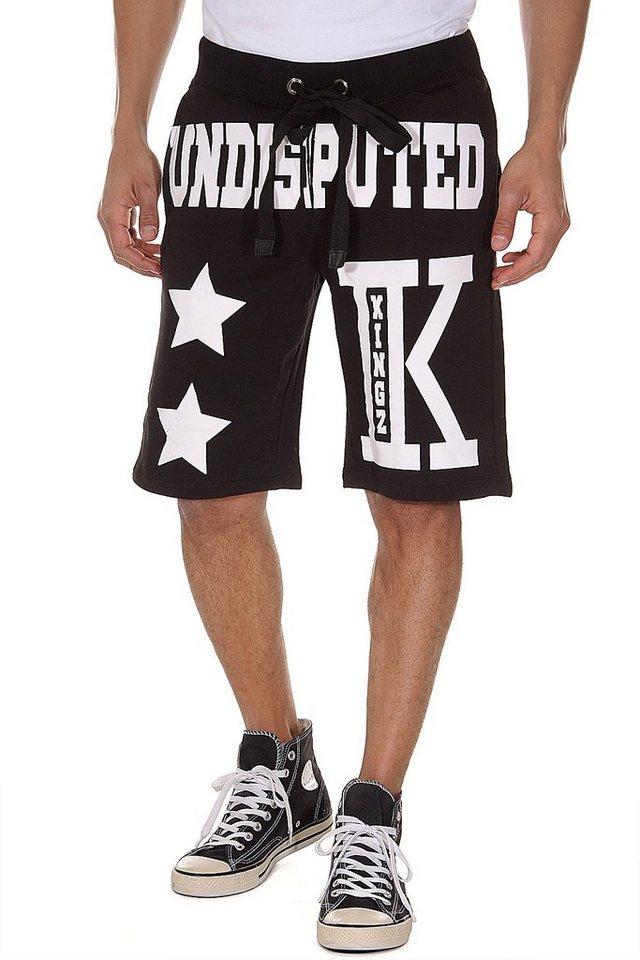 KINGZ Workout Shorts regular fit in schwarz