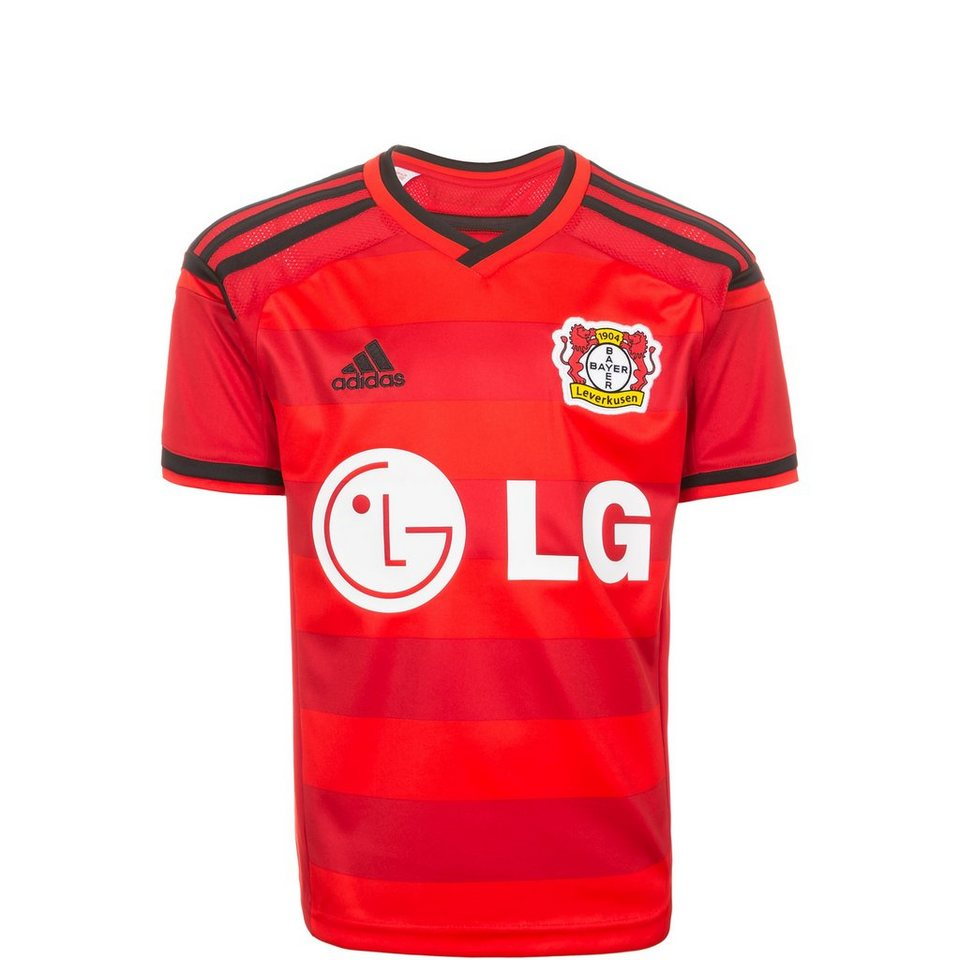adidas Performance Bayer 04 Leverkusen Trikot Away 2015/2016 Kinder in rot / schwarz