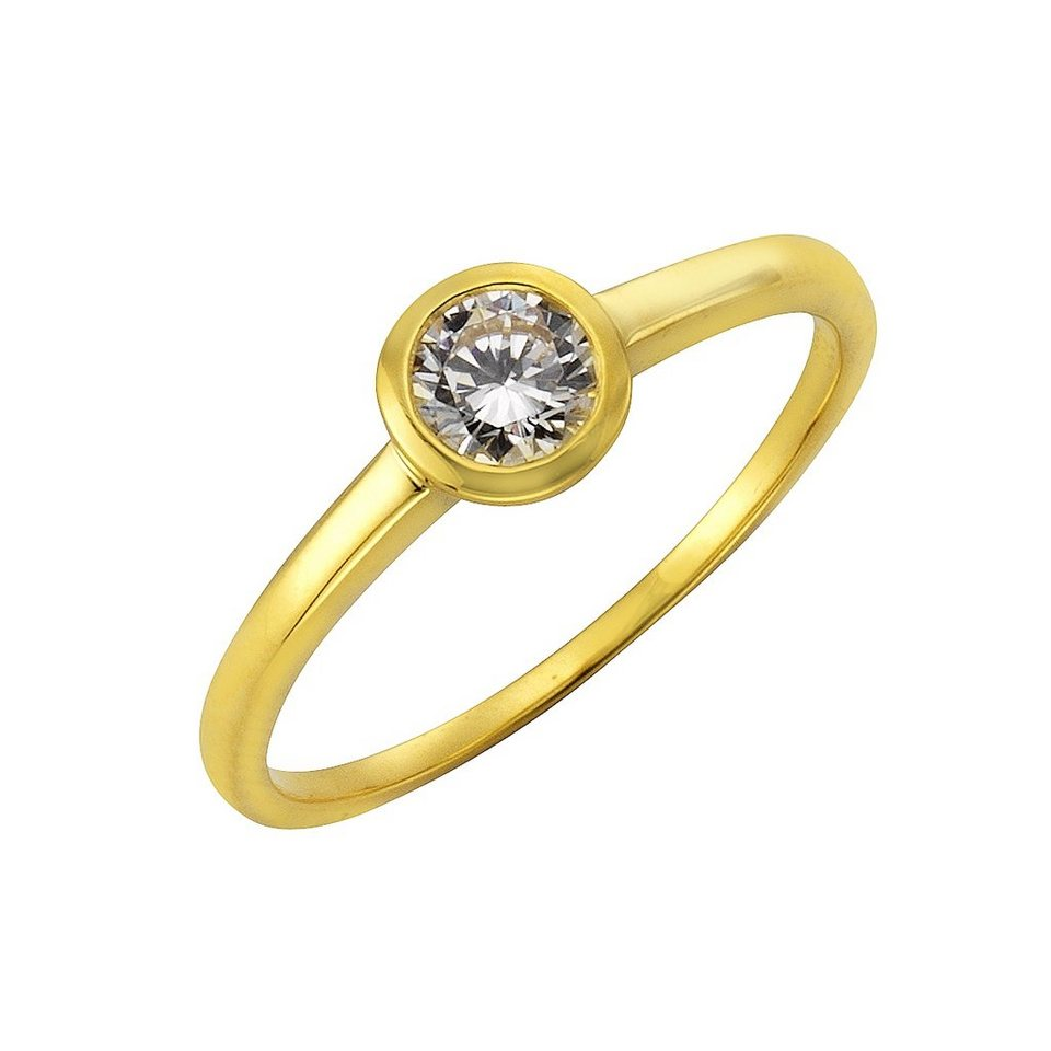 Fascination by Ellen K. Ring »333/- Gelbgold Zirkonia« in gelb