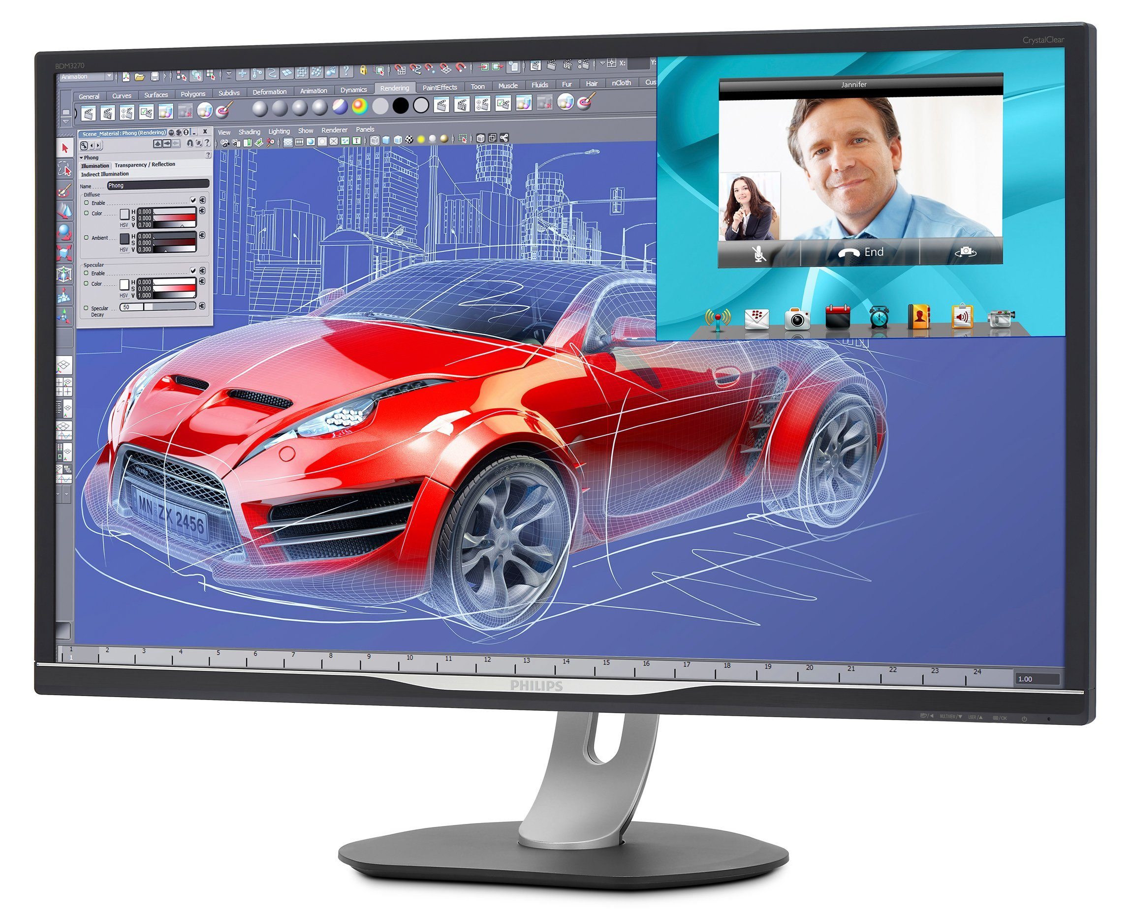 Philips WQHD Monitor, 81,3cm (32 Zoll) »BDM3270QP«