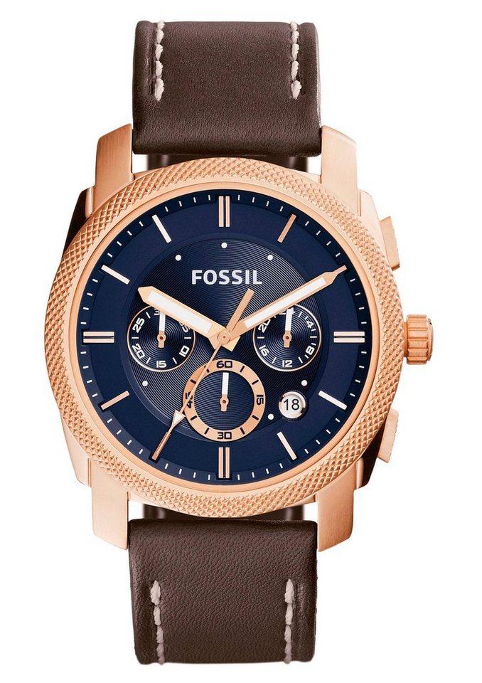 "Fossil, Chronograph, ""MACHINE, FS5073"" in dunkelbraun"