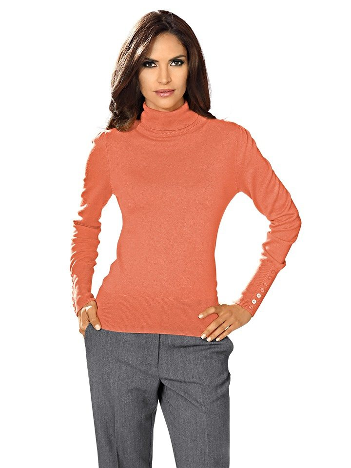 ASHLEY BROOKE by Heine Rollkragenpullover mit Kaschmir in mandarin
