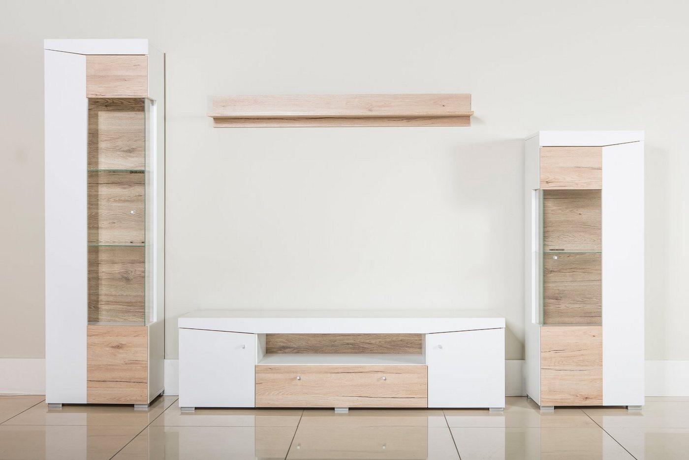 50% sparen - moderne Wohnwand von OTTO 4-teilig in verschiedenen ...
