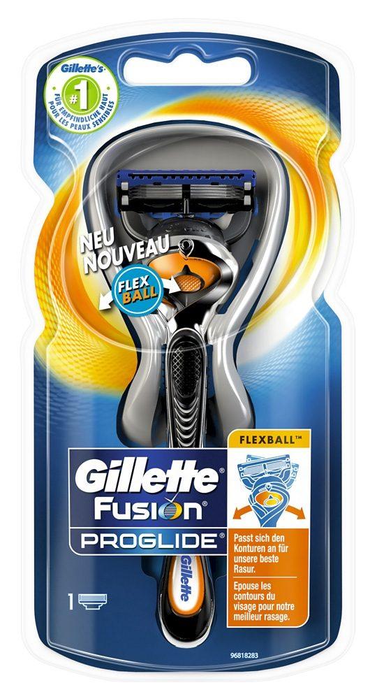 Gillette, »Fusion ProGlide«, Rasierer mit Flexball-Technologie