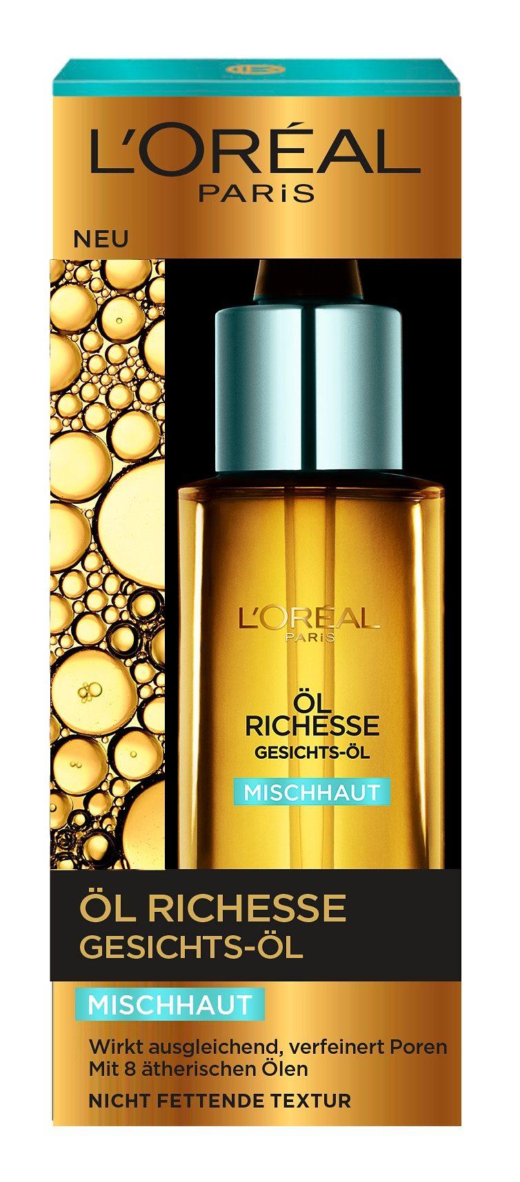L'Oreal Paris, »Öl Richesse«, Gesichts-Öl für Mischhaut