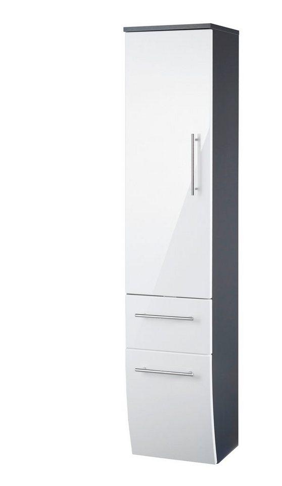 Midischrank »Toskana«, Breite 30 cm in anthrazit/weiß
