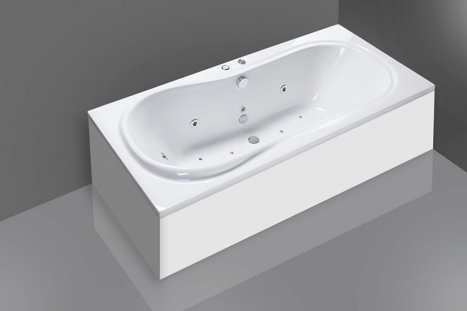 Körperformwanne »Palma«, 190 cm, Whirlpool-System Premium