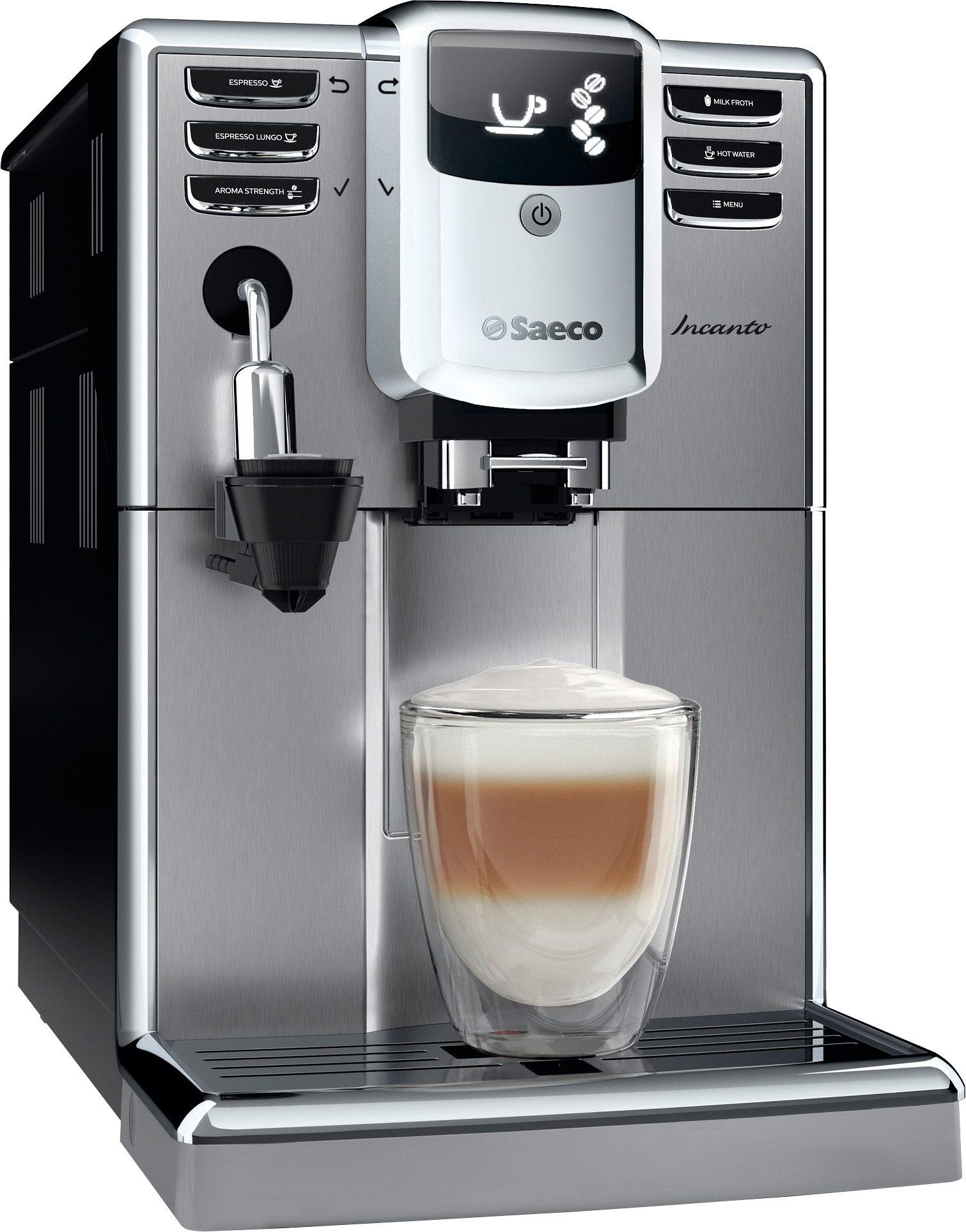Saeco Kaffeevollautomat HD8914/01 Incanto mit Cappuccinatore, Edelstahl