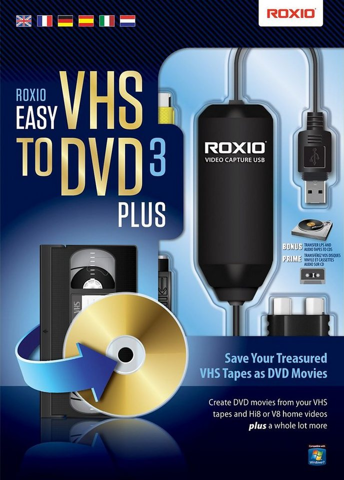 COREL Software »Easy VHS to DVD 3 Plus (ML) (251000EU)« in schwarz