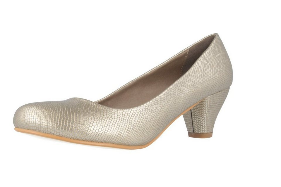 Andres Machado Pumps in Gold