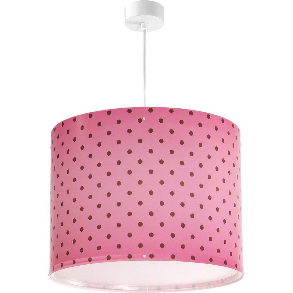 Dalber Hängelampe Pink, gepunktet in pink
