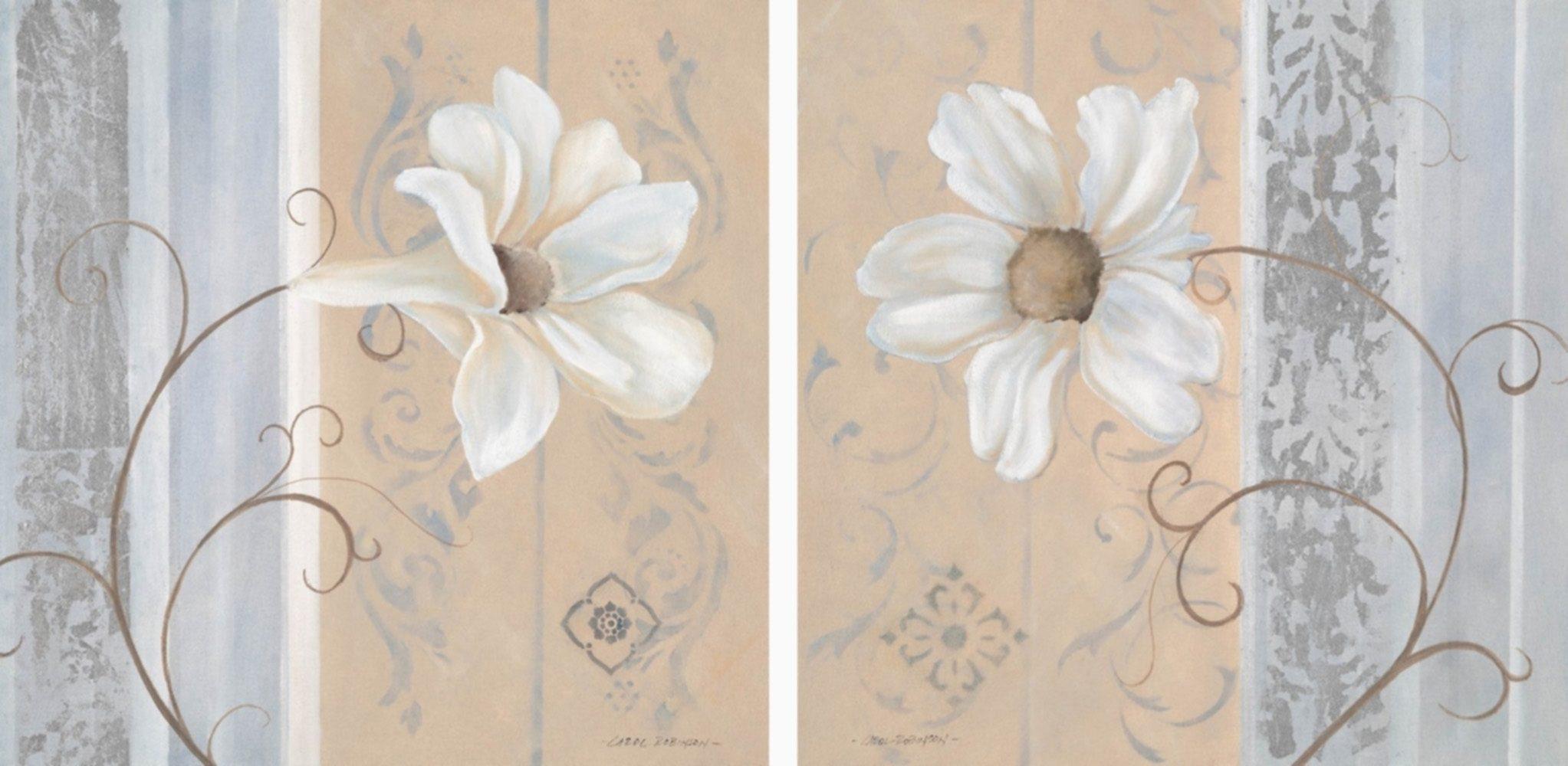 Home Affaire Bild Kunstdruck »White Flowers I/II«, (2-tlg.)