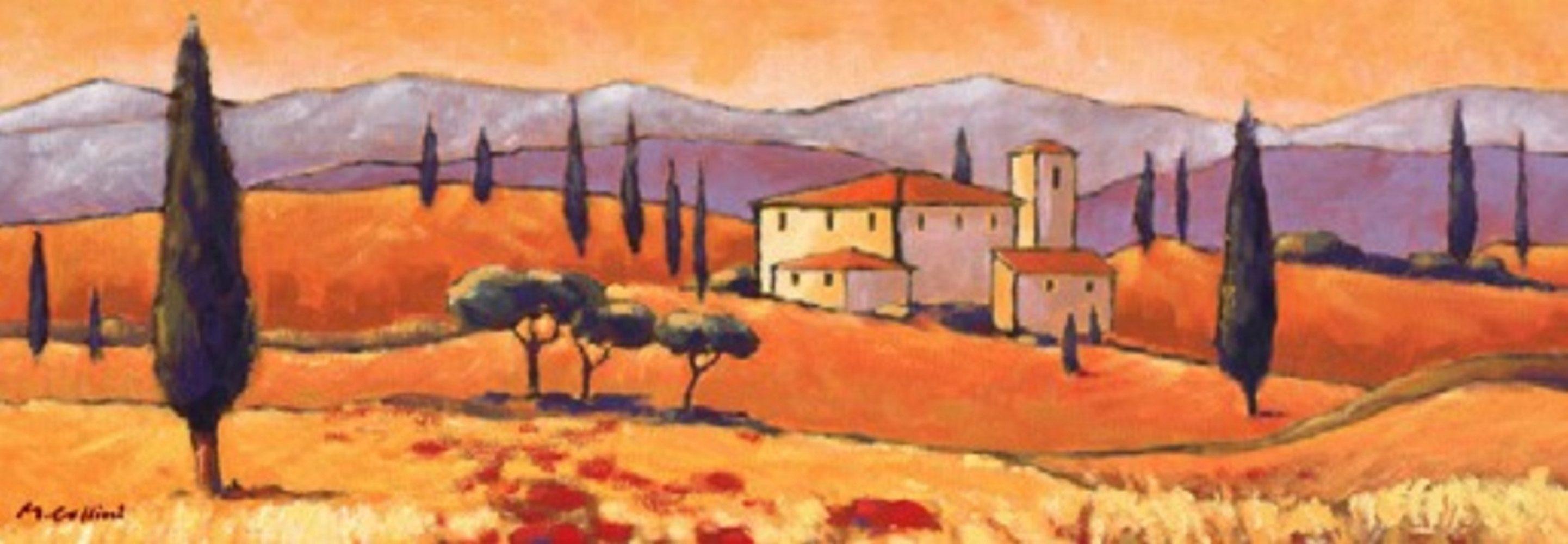 Home Affaire Bild Kunstdruck »Toskanische Landschaft«, 100/35 cm