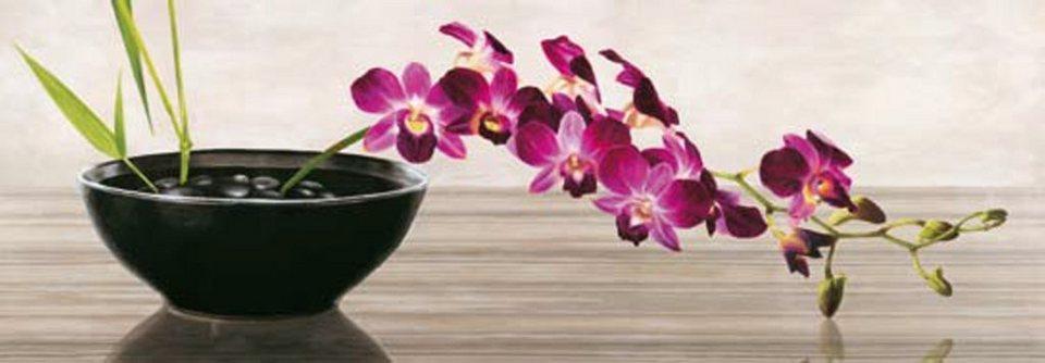 Home Affaire Bild Kunstdruck »Shin Mills, Orchid Arrangement«, 95/33 cm in bunt