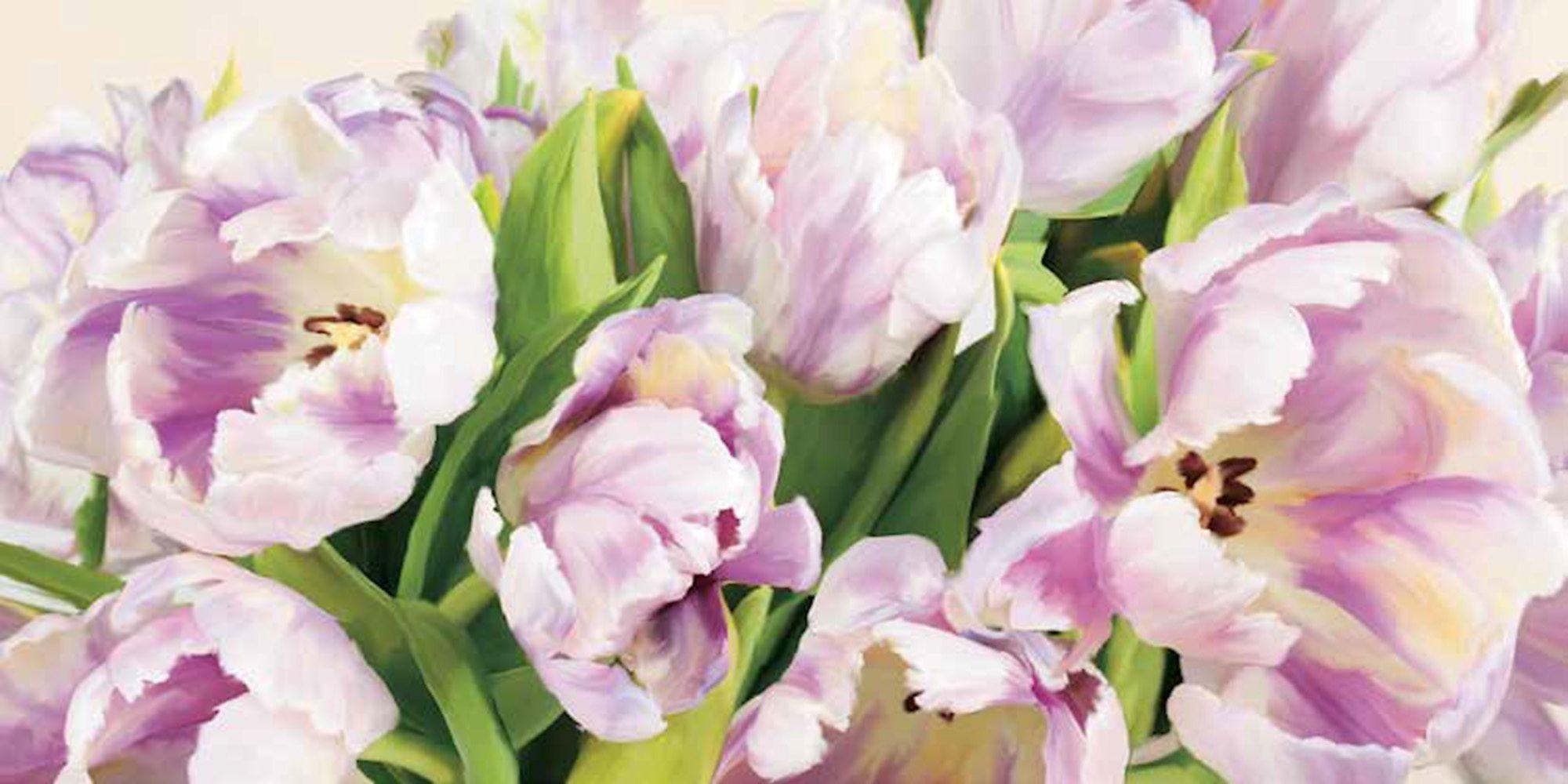 Home Affaire Bild Kunstdruck »Luca Villa, Tulipes en Fleur«, 100/50 cm