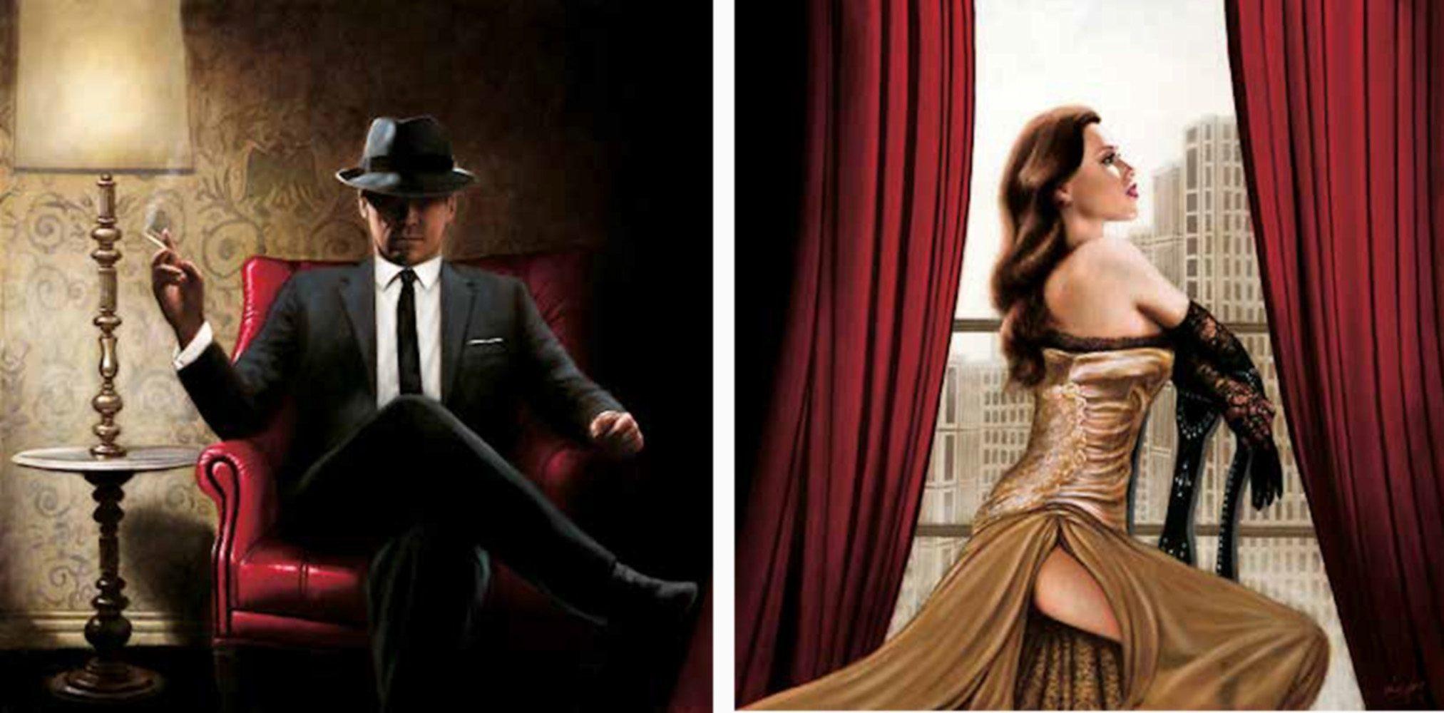 Home Affaire Bild Kunstdruck »John Silver, Black Tie, high Heels«, (2-tlg.)