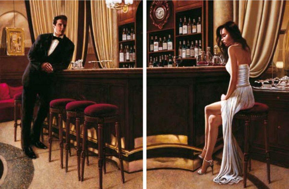 Home Affaire Bild Kunstdruck »John Silver, In the mood for love I/II«, (2-tlg.) in schwarz/gold