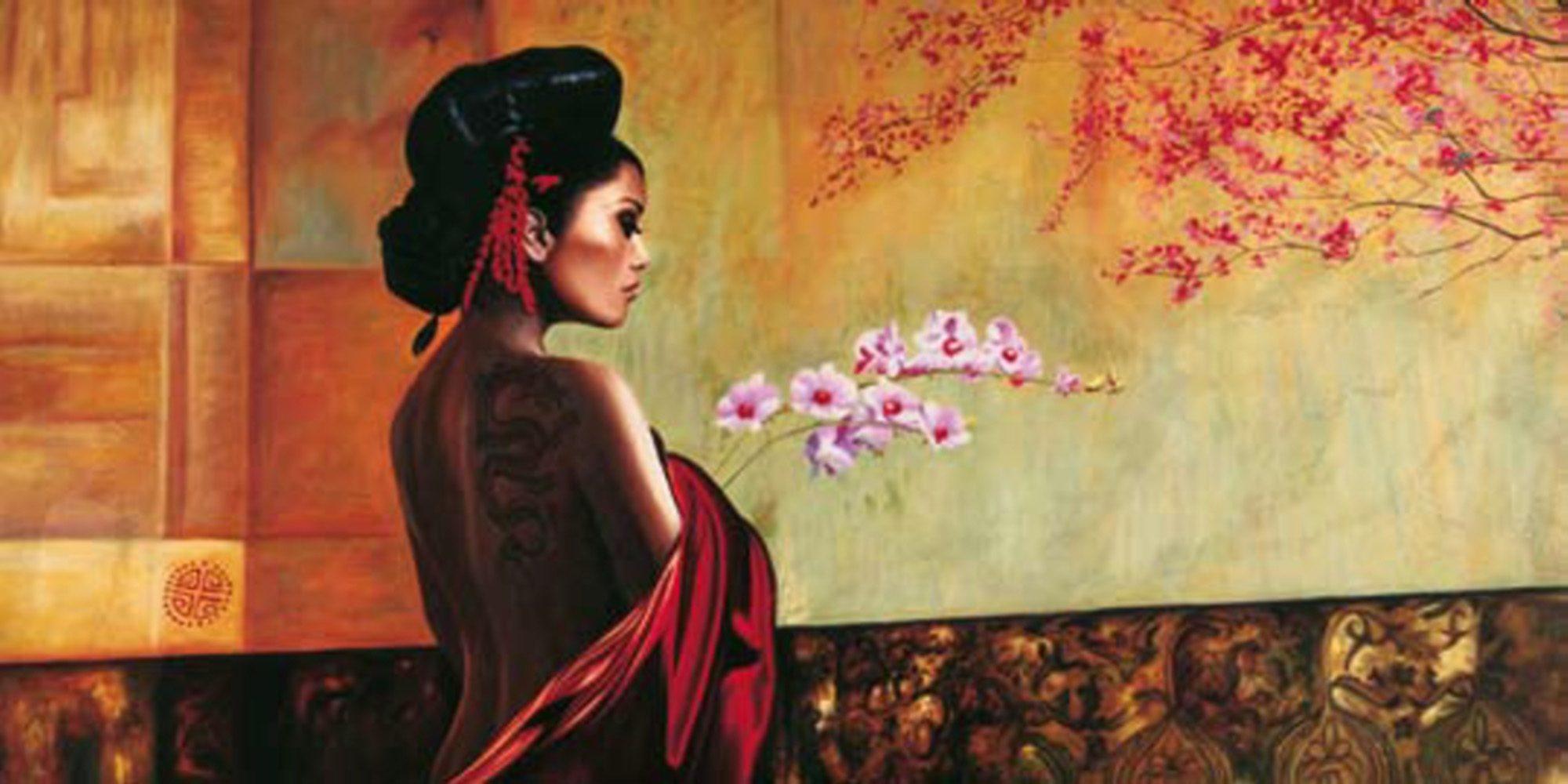 Home Affaire Bild Kunstdruck »P. Benson, Wild Orchid«, 100/50 cm