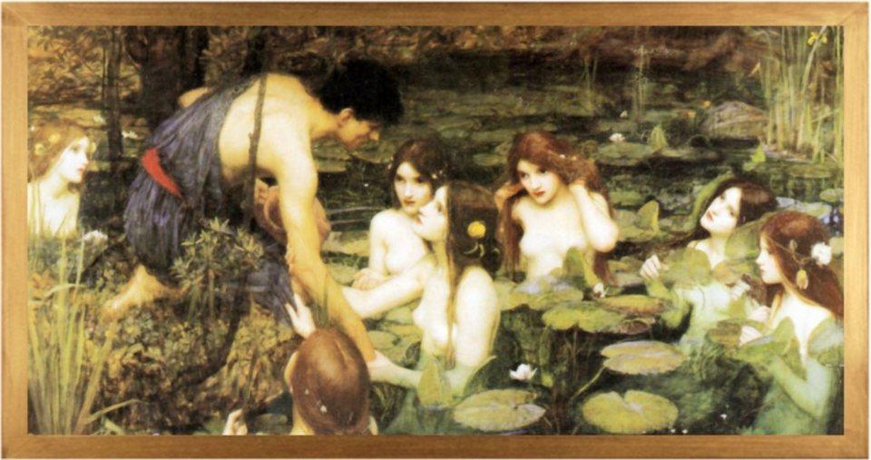Home Affaire Bild Kunstdruck »Waterhouse, Hylas and the Nymphs«, 106/56 cm in bunt