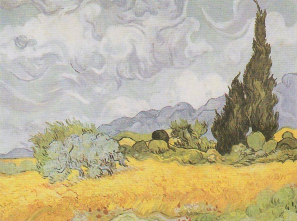 Home Affaire Bild Kunstdruck »V. van Gogh, Weizenfeld mit Zypressen«, 80/60 cm in bunt
