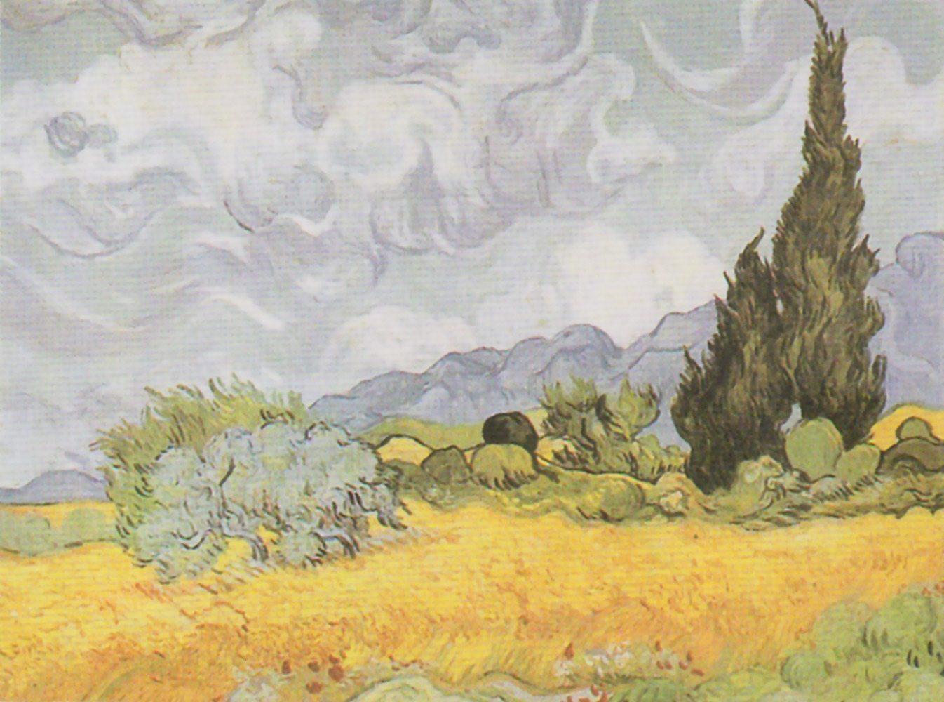 Home Affaire Bild Kunstdruck »V. van Gogh, Weizenfeld mit Zypressen«, 80/60 cm
