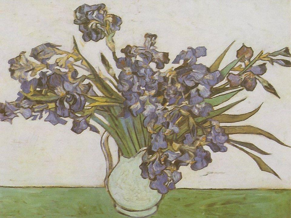 Home Affaire Bild Kunstdruck »V. van Gogh, Iris in Vase«, 80/60 cm in bunt