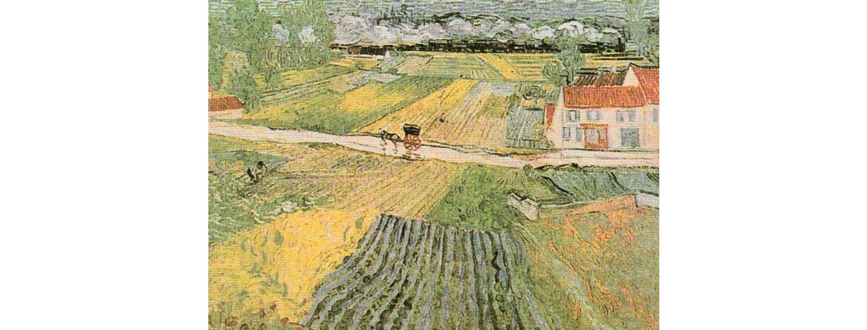 Home Affaire Bild Kunstdruck »V. van Gogh, Landschaft bei Auvers«, 80/60 cm