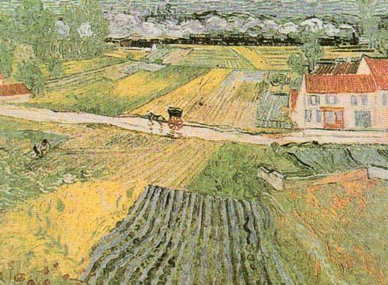Home affaire Kunstdruck »V. van Gogh, Landschaft bei Auvers«, 80/60 cm